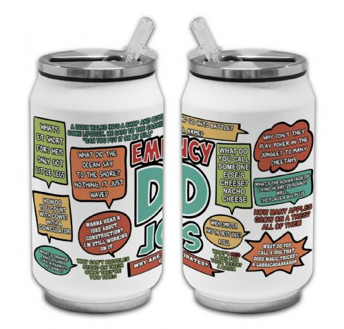 Emergency Dad Jokes Funny Novelty Thermos Drinking Can